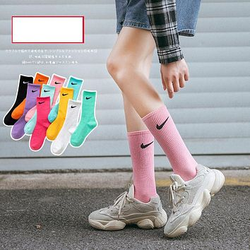 Net star ins socks candy color summer couple stockings NIKE-3pcs