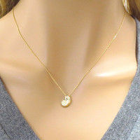 Gold, Ariel, mermaid, necklace, shell, necklace, mermaid, shell, the little mermaid, frinedship, sea, beach, necklace, jewelry, minimal