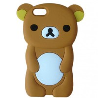 LliVEER New Brown Rilakkuma Bear Soft Silicone Case Protective Cover for Apple iPhone 5C