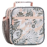 Gear-Up Grey Peach Metallic Feather Classic Lunch