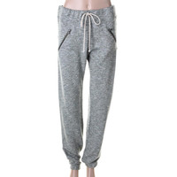 Bella Dahl Womens Terry Cloth Marled Sweat Pants
