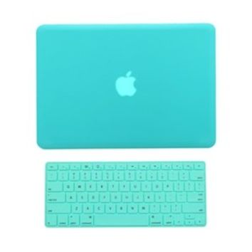 """TopCase 2 in 1 Rubberized Hard Case Cover and Keyboard Cover for Macbook Pro 15"""" A1286 (Case NOT for Retina Display) with TopCase Mouse Pad (Macbook Pro 15"""" A1286, Hot Blue)"""