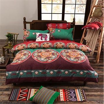 Boho Mandala Full/Queen/King Size Bedding Sets Bohemian Style 3/4 pcs Duvet Cover Sets Pillowcases Comforter Covers bedsheet