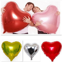 Super Big Heart Shape Inflatable Balloon Aluminum Foil Wedding Marriage Decoration = 1932682884