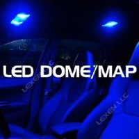 Super Bright Blue Color 2x 6 12v LED Car Interior Dome Lights Panel with 3 Adapters(t10, Ba9s, and Festoon)