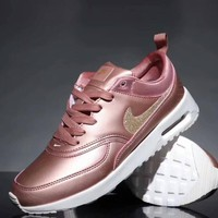 Nike Air Max 90 Fashion Unisex Personality All Leather Small Ar Cushion Sport Running Shoe Sneakers Pink I-CQ-YDX