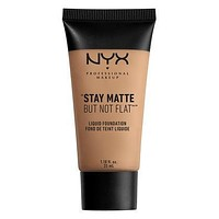 NYX Stay Matte But Not Flat Liquid Foundation - Caramel - #SMF10