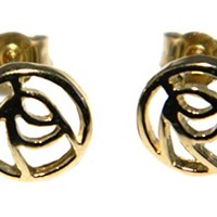 Arranview Jewellery – 9ct Gold Rennie Mackintosh Earrings