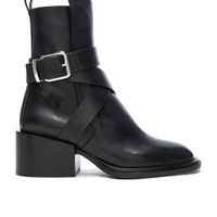 Jil Sander Leather Boots in Black | FWRD