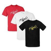 Michael Jordan Signature Jumpman Flight T-shirt Men's Short Sleeve O-Neck Pure Cotton