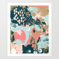 Eisley - Modern fresh abstract painting in bright colors perfect for trendy girls decor college Art Print by CharlotteWinter