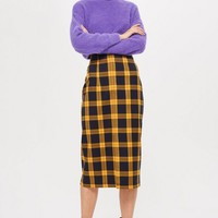 Check Pencil Midi Skirt | Topshop