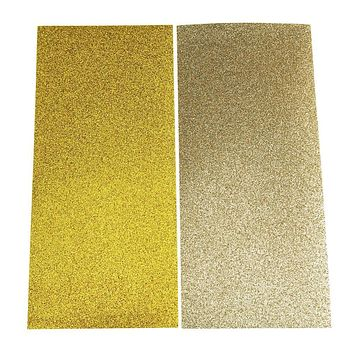 Glitter Sheet Paper Stickers, 10-Inch, 2-Count, Glided Gold