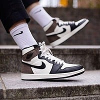 Nike Air Jordan 1 AJ1 fashion men and women high-top fashion casual sports shoes sneakers