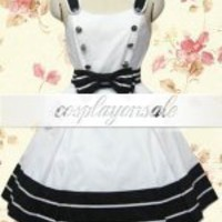Double Breasted Bow Cotton Sweet Lolita Dress [T110706] - $71.00 : Cosplay, Cosplay Costumes, Lolita Dress, Sweet Lolita