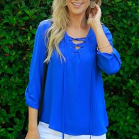 Riptide Lace Up Blouse