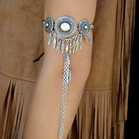Celestial Twilight Arm Bracelets in Antique Gold & Silver