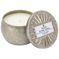 Petite Decorative Tin Candle ~ Blond Tabac