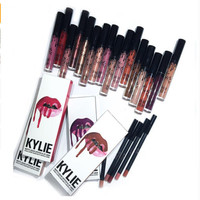 8 Colors Kylie Lip Gloss Lipstick Jenner Lip Kit & Lipliner +Lipgloss Liquid lipstick matte lip kit lip gloss
