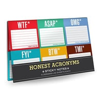 Knock Knock Sticky Notes Packet, Honest Acronyms