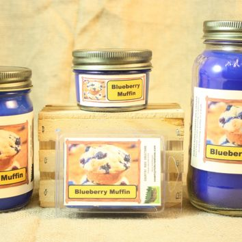 Blueberry Muffin Candle, Scented Candles and Wax Melts, Highly Scented Bakery Candles and Wax Tarts, Great Housewarming Gift