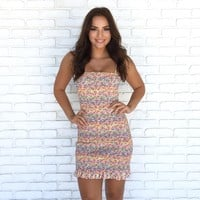 Over The Rainbow Smocked Bodycon Dress