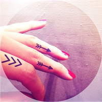 3pcs Small Chevron Arrow set finger - InknArt Temporary Tattoo - wrist quote tattoo body sticker fake tattoo wedding tattoo small tattoo