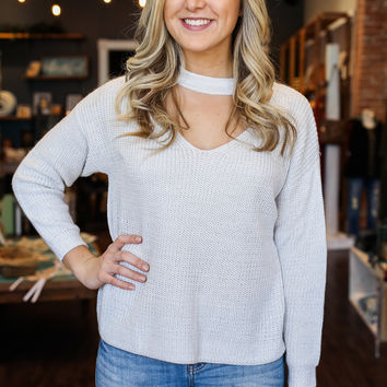 On the Path Sweater - Silver