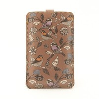 Leather iPhone/iTouch/HTC Desire/Mozart case Birds by tovicorrie