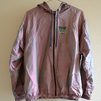 Daytona Beach Iridescent Windbreaker Jacket Vintage Oversized 90s XL