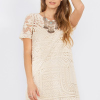 Sugarlips Wait For Me Embroidered Shift Dress