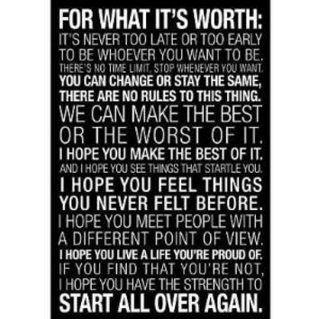 Laminated For What It's Worth Quote (Black) Motivational Poster 13 x 19in