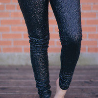 Sequin Legging - Black