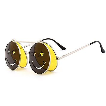 Smiley Face Round Shades
