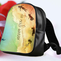 """Disney New Peter Pan Quote for Backpack / Custom Bag / School Bag / Children Bag / Custom School Bag """"NP"""""""