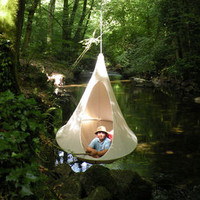 Tent - Single Hanging chair Red by Cacoon