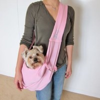Alfie Pet by Petoga Couture - Chico Reversible Pet Sling Carrier - Color: Pink