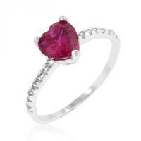 Ruby Red Heart Ring