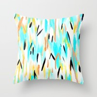 Golden Caribbean Abstract Throw Pillow by Allyson Johnson | Society6