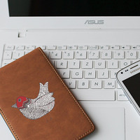 """Red Doodle Bird Die Cut Sticker // Woodland Decal // Cell Phone & Tablet Small Size // 3"""" // Perfect For Indoor, Outdoor, Laptop, Car"""