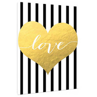 Gold Love filled Heart letter - Custom Art Print - Customizeable valentines day - Home Decor - wall art - Valentine love note for her