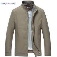 New Arrivals Men's Jackets Male Casual Standing Collar Jackets & Coats High Quality Solid Jacket For Male Coat
