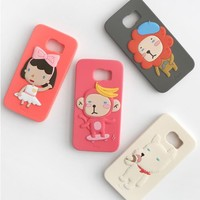 Hello Geeks from the Forest Cute Case for Galaxy S6