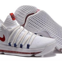 Nike KD 10 'USA' White/University Red-Race Blue For Sale