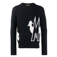 Moncler fashion men's and women's casual sweaters are hot sellers with printed round neck sweaters