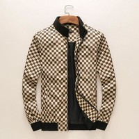 Louis Vuitton LV  Jacket Zipper Coat Cardigan Khaki