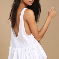 Free People Cantina White Tank Top