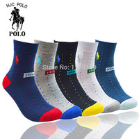5 pairs POLO men socks high quality new Mens Style Business Sport Crew Comfotable 100% Cotton Socks best gift