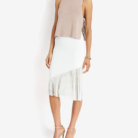 Timo Weiland EXCLUSIVE Fringe Skirt | Shop IntermixOnline.com