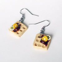 Waffle & Fruit - earrings